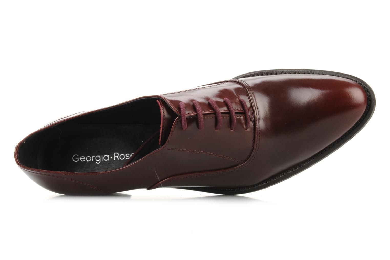 Snörade skor Georgia Rose Daporo Vinröd bild från vänster sidan