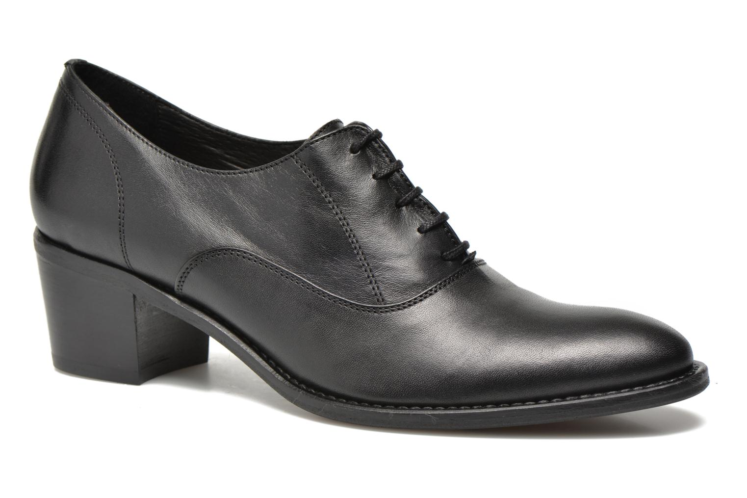 Lace-up shoes Georgia Rose Daporo Black detailed view/ Pair view