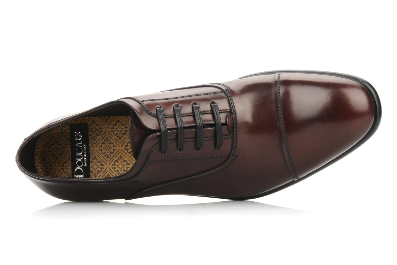 Lace-up shoes Doucal's Pierrot Burgundy view from the left
