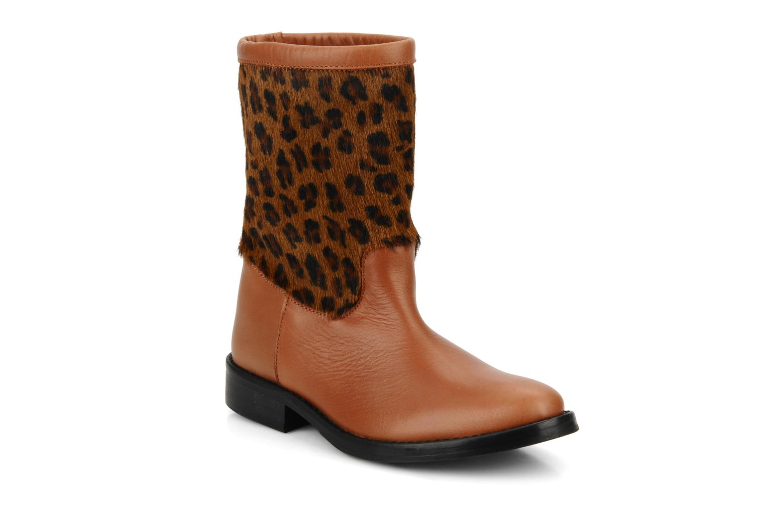 Ankle boots C'Entre Maman & Moi! Stephanie porto Brown detailed view/ Pair view