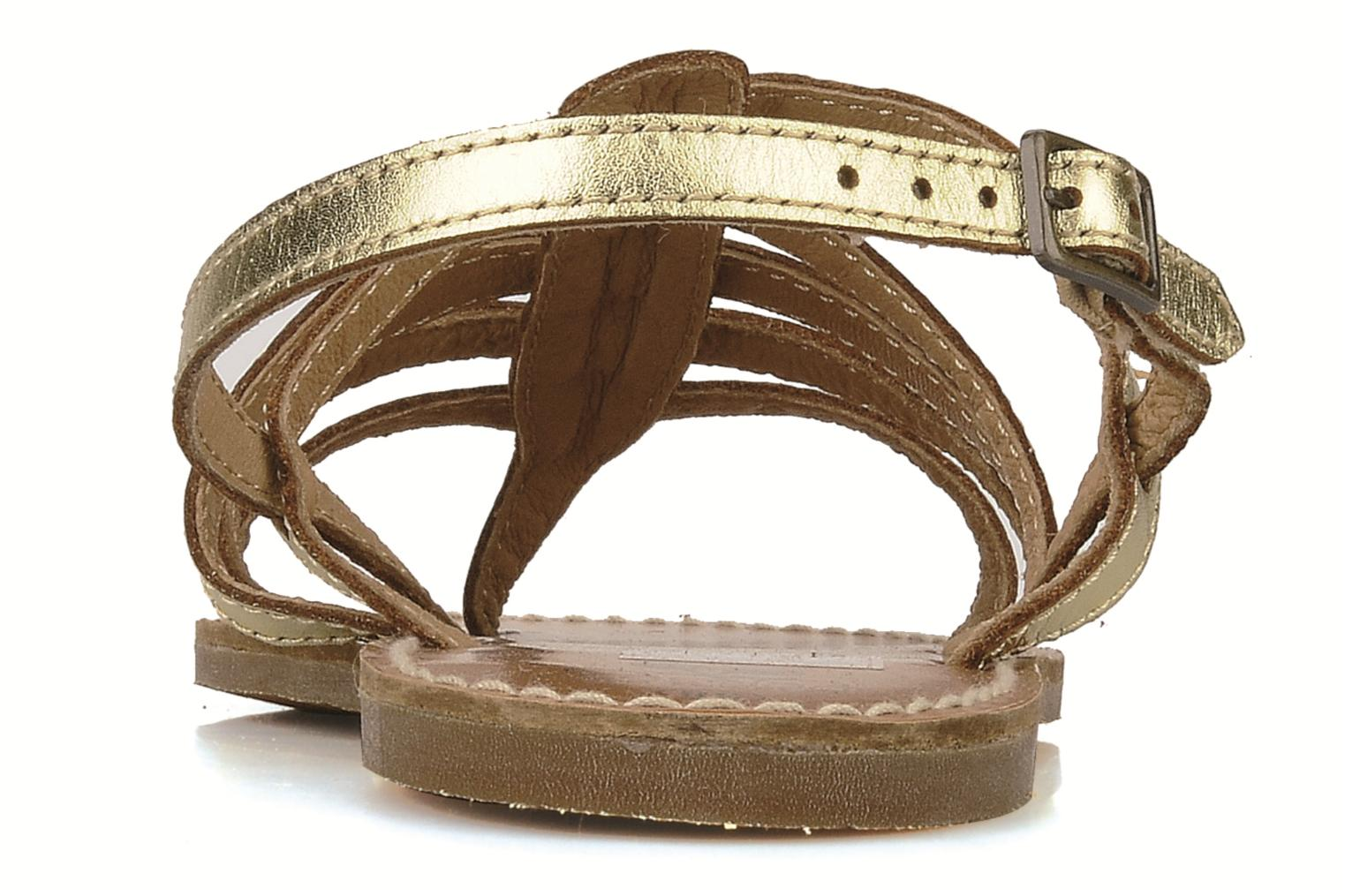 Sandals Le temps des cerises Sparti Bronze and Gold view from the right