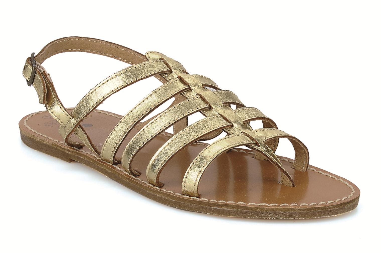 Sandals Le temps des cerises Sparti Bronze and Gold detailed view/ Pair view