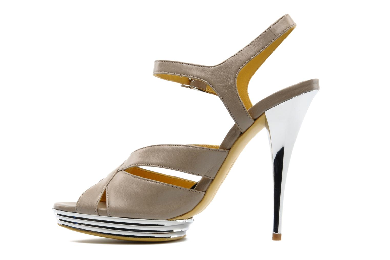 Sandali e scarpe aperte Charles Jourdan Marilyne Grigio immagine frontale