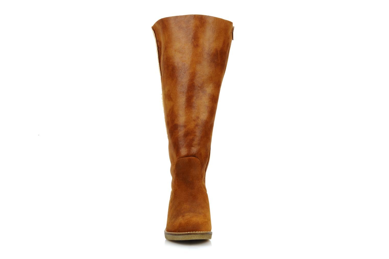 Stiefel Castaluna Stella XL braun schuhe getragen