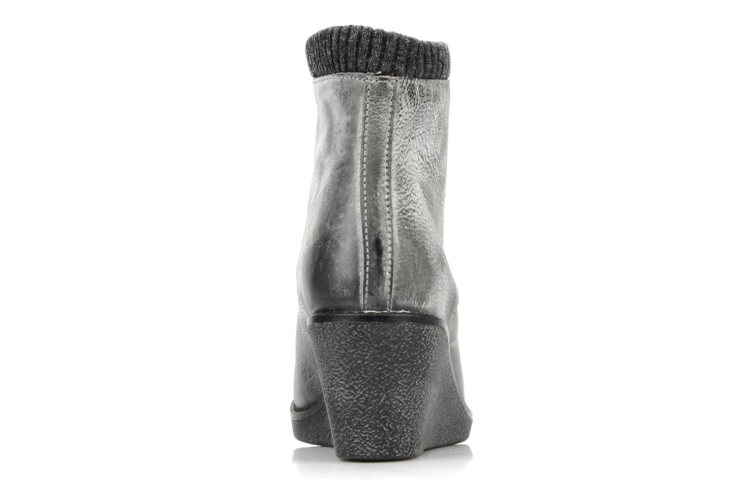 Botines  Castaluna Mildred XL Gris vista lateral derecha