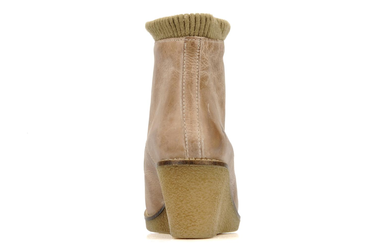 Ankle boots Castaluna Mildred XL Beige view from the right