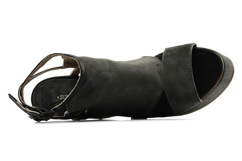 Sandalen Surface To Air Louna Art Deco grau ansicht von links