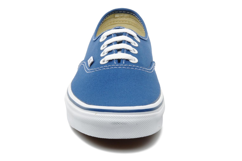 Baskets Vans Authentic w Bleu vue portées chaussures