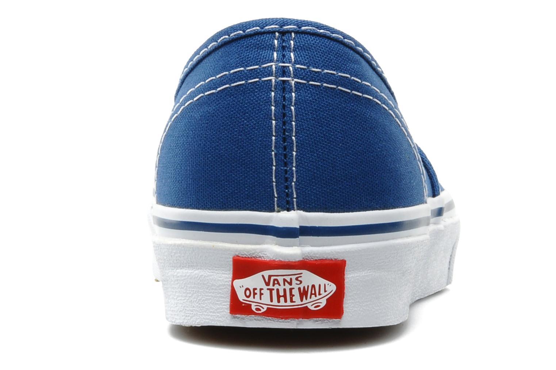 Baskets Vans Authentic w Bleu vue droite