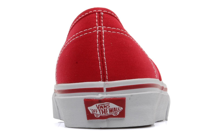 Sneaker Vans Authentic w rot ansicht von rechts