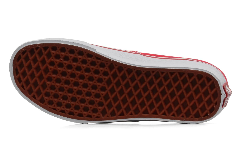 Sneaker Vans Authentic w rot ansicht von oben