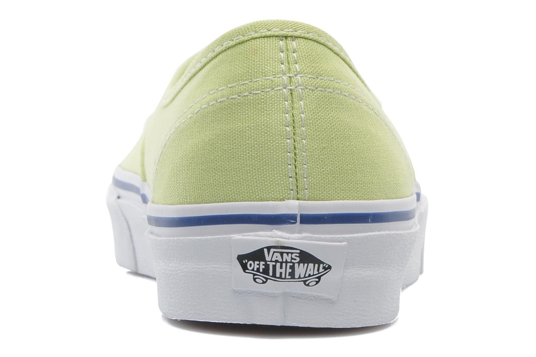 Baskets Vans Authentic w Vert vue droite