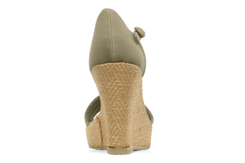 Sandales et nu-pieds U.S Polo Assn. Becky Vert vue droite