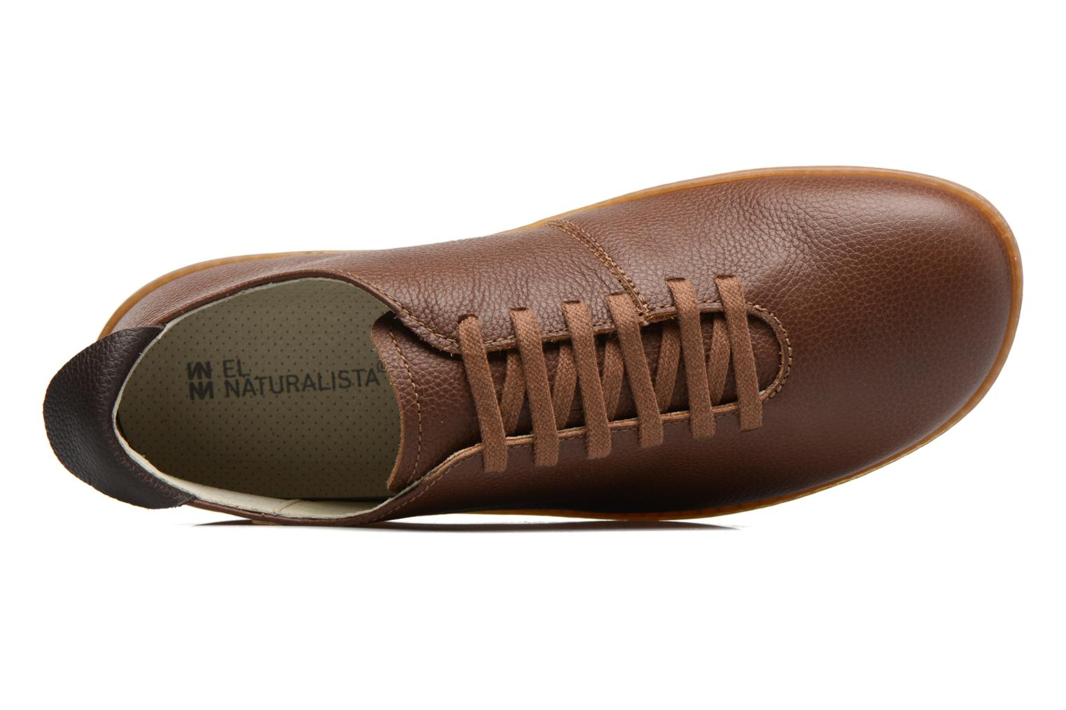 Lace-up shoes El Naturalista El Viajero N296 M Brown view from the left