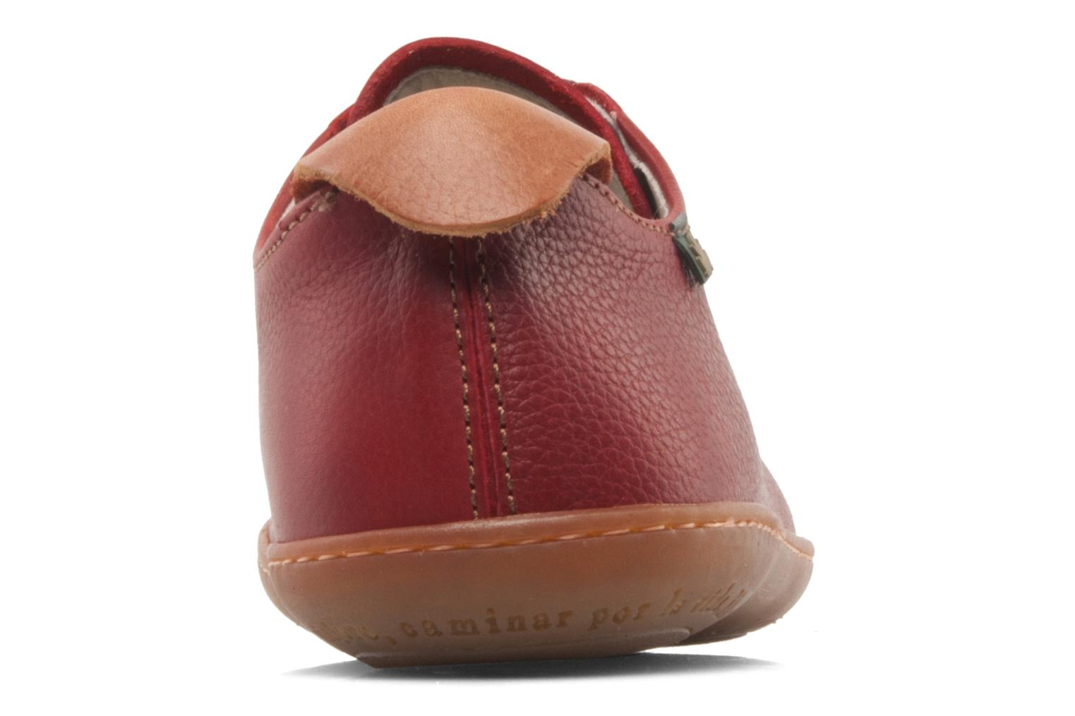 Lace-up shoes El Naturalista El Viajero N296 W Burgundy view from the right