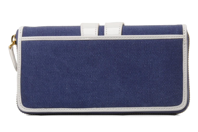 Petite Maroquinerie Tila March Zelig Canvas Long Wallet Bleu vue face