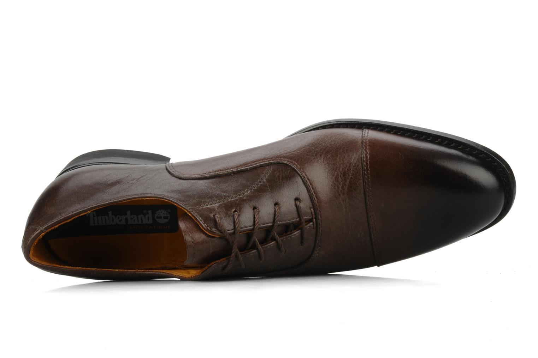 Chaussures à lacets Timberland CA Auburn Cap Marron vue gauche