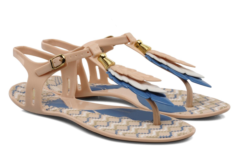 Sandals Melissa Melissa Lua III Sp Ad Beige 3/4 view