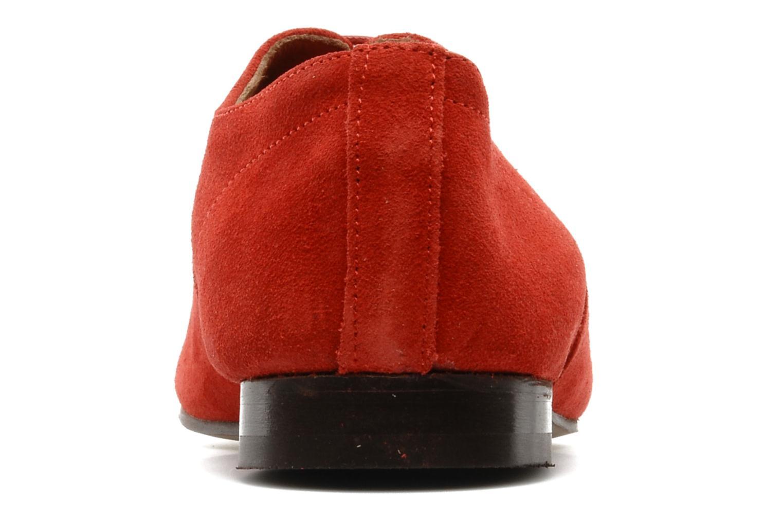 Scarpe con lacci Base London Sax Rosso immagine destra