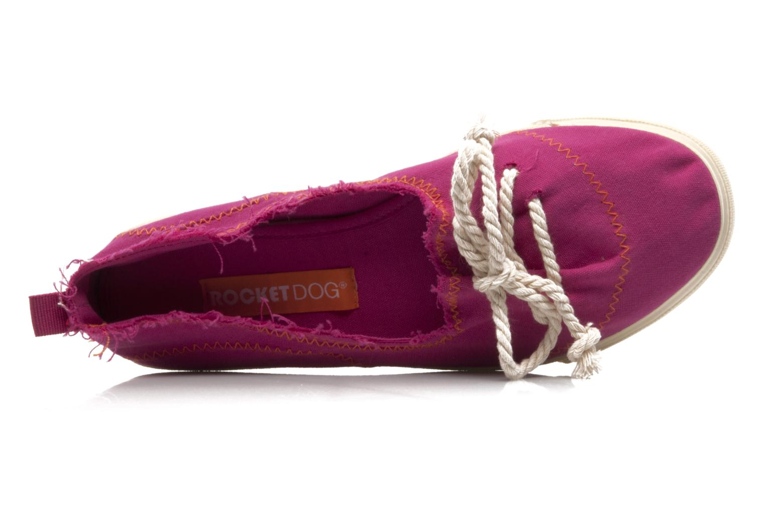 Ballet pumps Rocket Dog Changes Canvas Pink view from the left