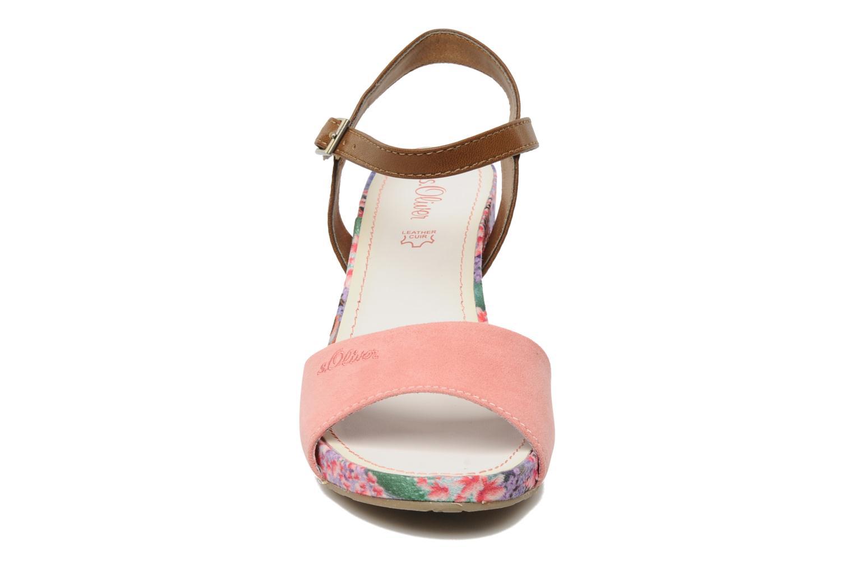 Sandales et nu-pieds S.Oliver Geai Rose vue portées chaussures