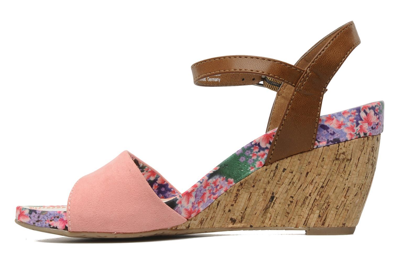 Sandales et nu-pieds S.Oliver Geai Rose vue face
