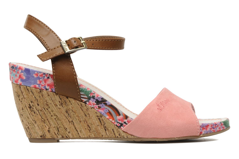 Sandales et nu-pieds S.Oliver Geai Rose vue derrière