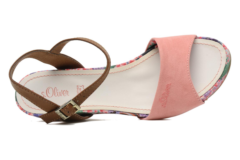 Sandales et nu-pieds S.Oliver Geai Rose vue gauche