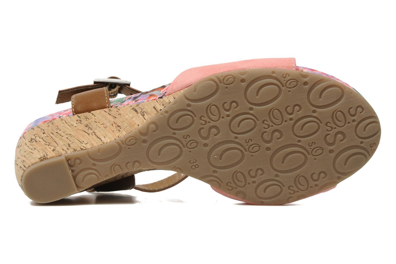 Sandales et nu-pieds S.Oliver Geai Rose vue haut