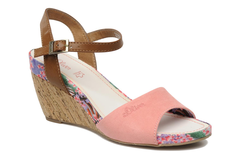 Sandales et nu-pieds S.Oliver Geai Rose vue détail/paire