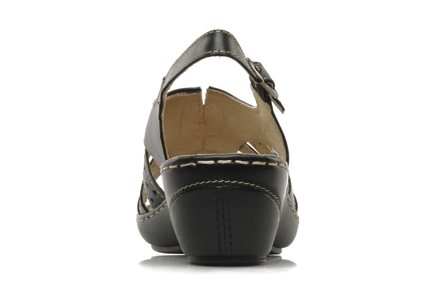 Sandals Caprice Vegati Black view from the right