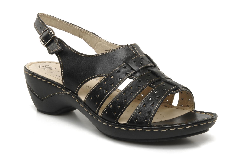 Sandals Caprice Vegati Black detailed view/ Pair view