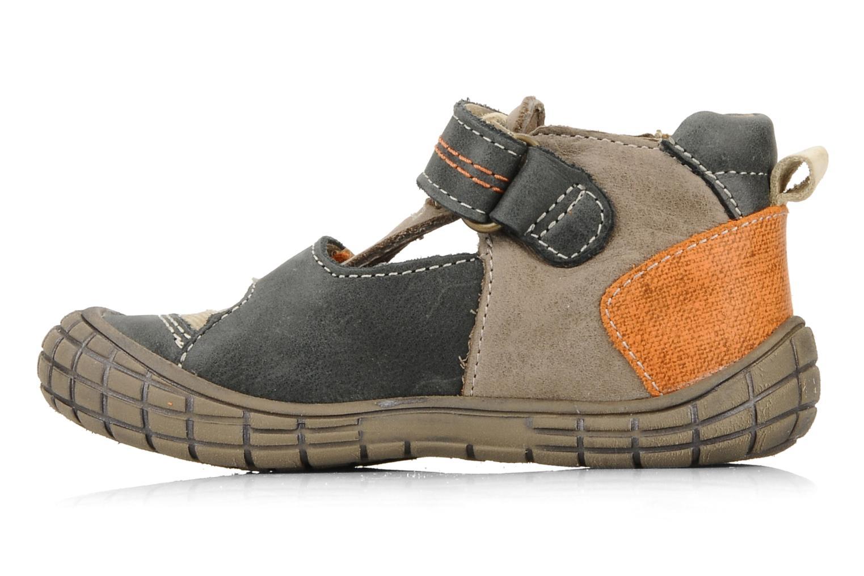 Chaussures à scratch Babybotte Stanislas Marron vue face