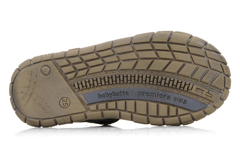 Chaussures à scratch Babybotte Stanislas Marron vue haut