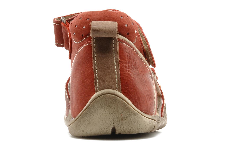 Sandalen Babybotte Tedi rot ansicht von rechts