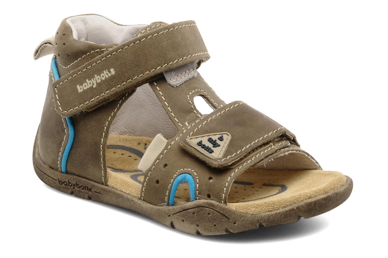 Sandales et nu-pieds Babybotte Tedi Marron vue détail/paire