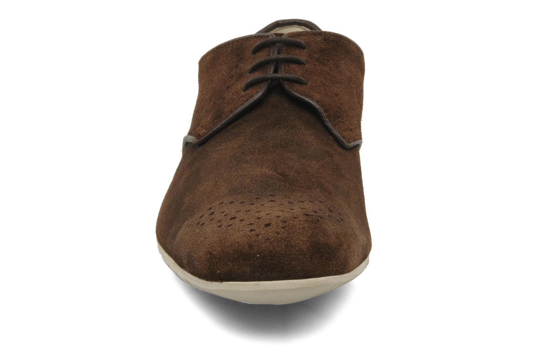 Schnürschuhe Clarks Extra Mode braun schuhe getragen