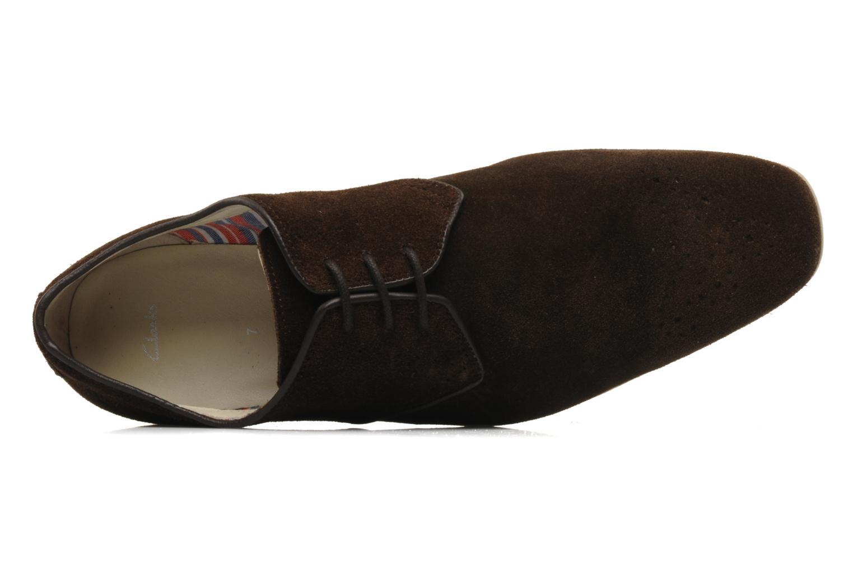 Schnürschuhe Clarks Extra Mode braun ansicht von links