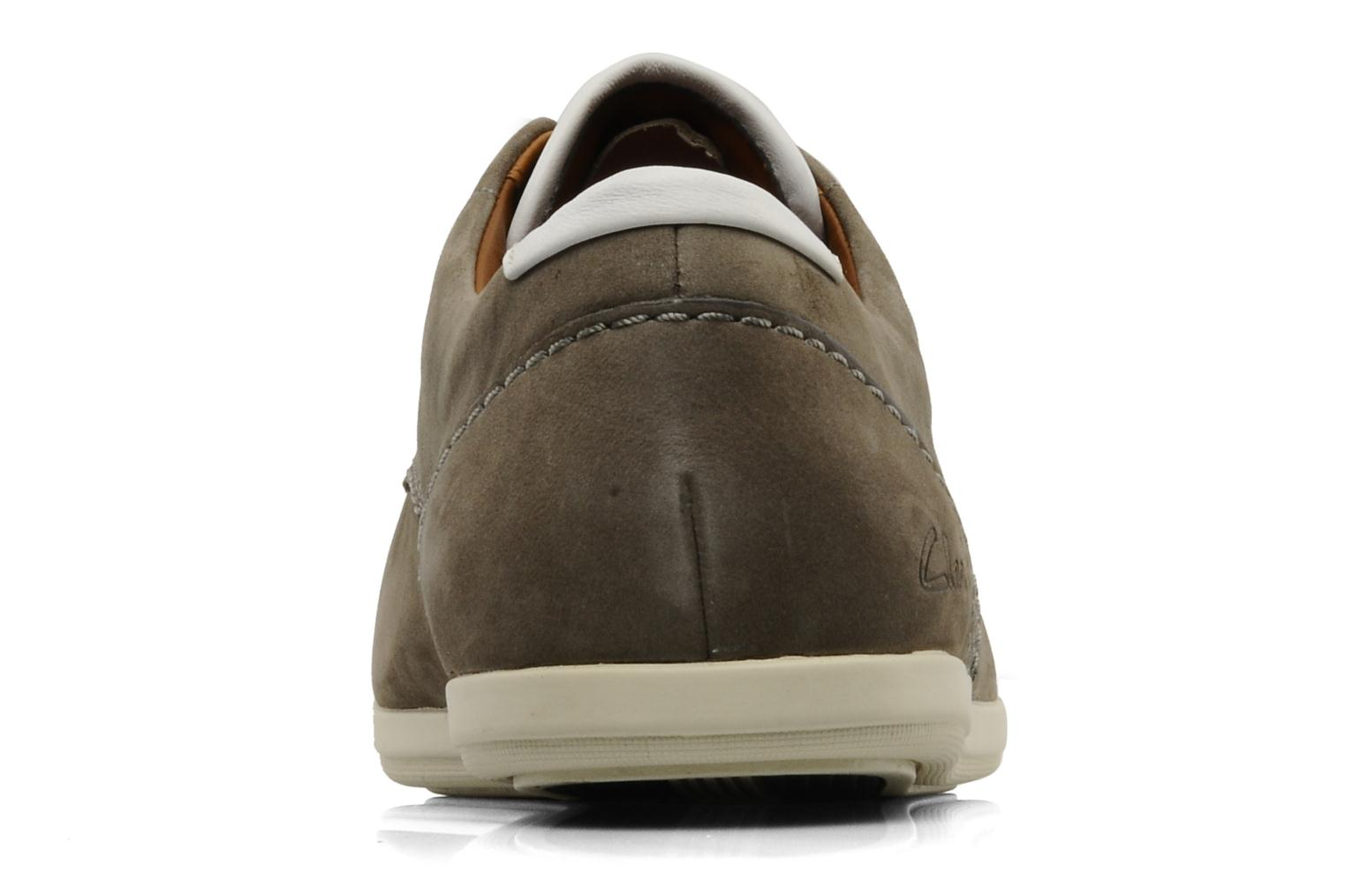 Lace-up shoes Clarks Mask Flow Grey view from the right