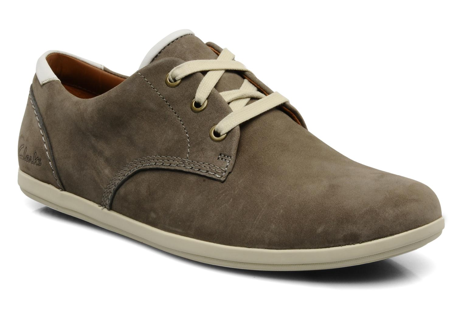 Lace-up shoes Clarks Mask Flow Grey detailed view/ Pair view