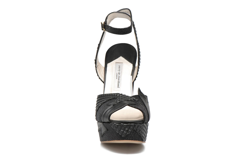 Sandales et nu-pieds Terry de Havilland Zia Noir vue portées chaussures