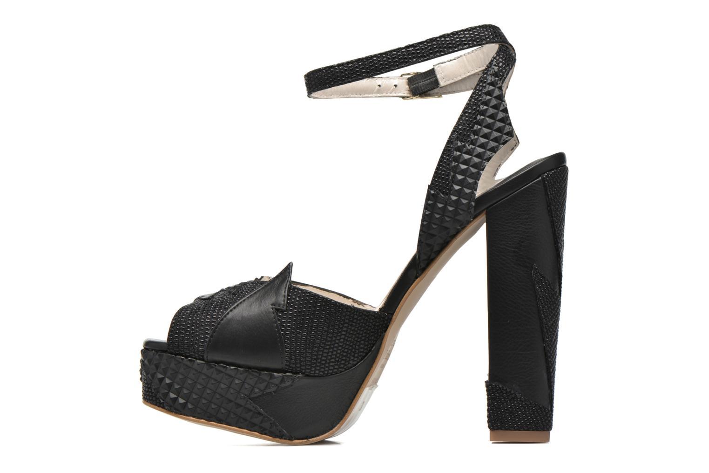Sandales et nu-pieds Terry de Havilland Zia Noir vue face