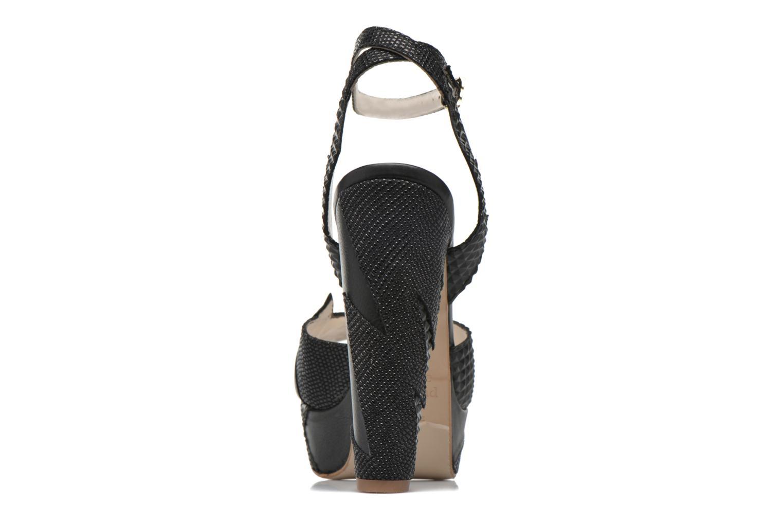 Sandales et nu-pieds Terry de Havilland Zia Noir vue droite