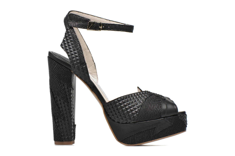 Sandales et nu-pieds Terry de Havilland Zia Noir vue derrière
