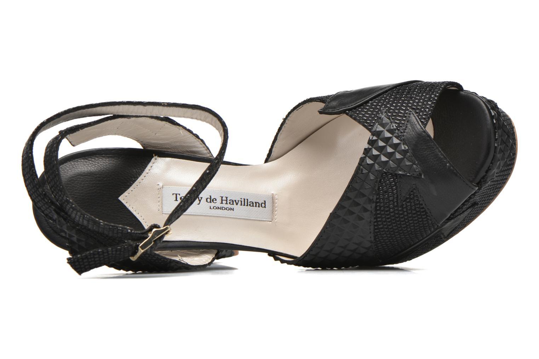 Sandales et nu-pieds Terry de Havilland Zia Noir vue gauche