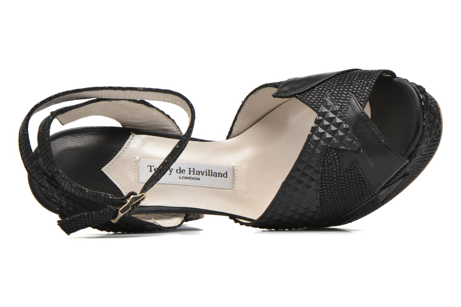 Sandalen Terry de Havilland Zia Zwart links