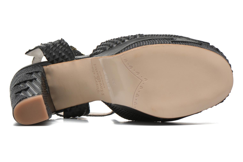 Sandales et nu-pieds Terry de Havilland Zia Noir vue haut