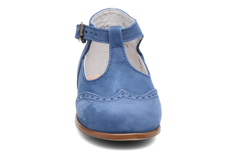 Stivaletti estivi Little Mary François Azzurro modello indossato