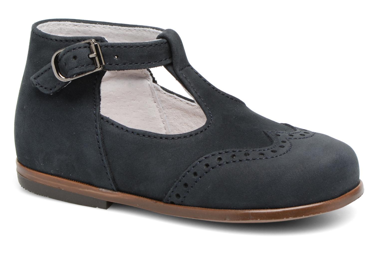 Sommersko Little Mary François Blå detaljeret billede af skoene