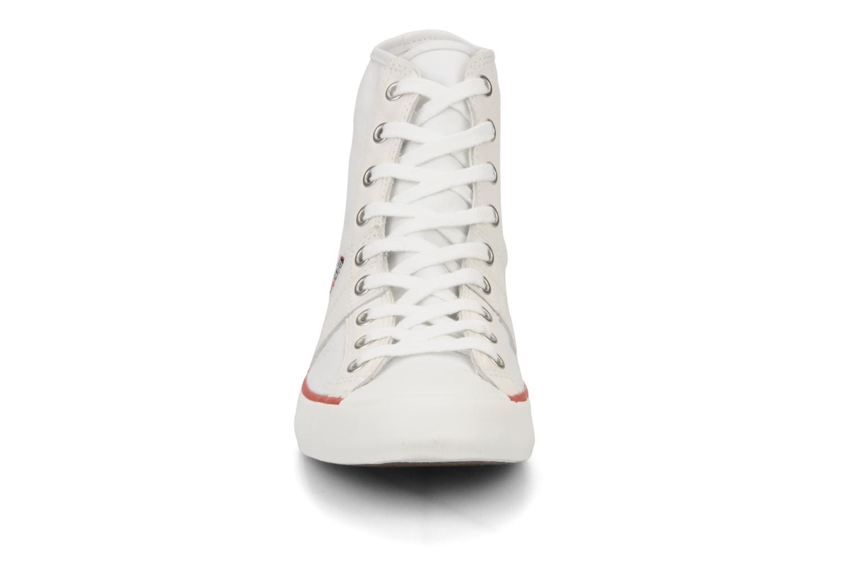 Sneakers Converse Chuch Taylor lady Canvas Hi Bianco modello indossato